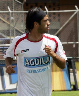 Vargas en un entrenamiento con la selección colombiana.