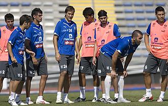 El Tenerife durante un entrenamiento en las islas