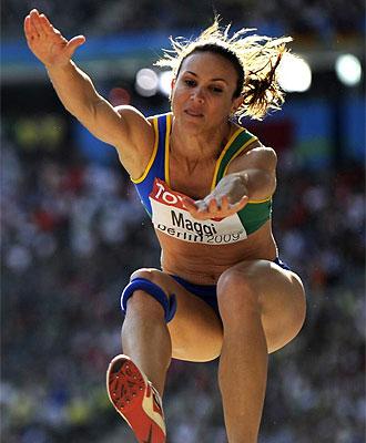 Maggi salta en los Mundiales de Berl�n.