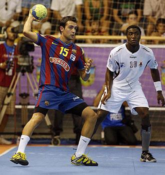 Cristian Ugalde, durante el encuentro de la Supercopa ante el BM Ciudad Real.