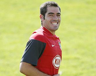 Antonio López, durante un entrenamiento