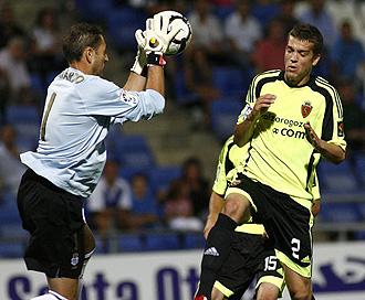 Bernardo durante un partido de la temporada pasada ante el Zaragoza