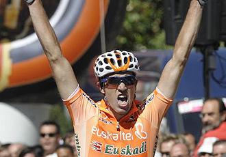 Fernández de Larrea, durante una etapa a la Vuelta a Burgos