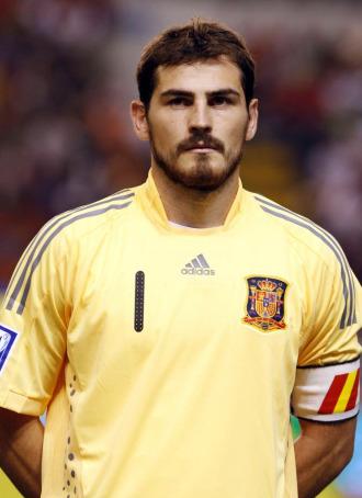 El meta del la selecci�n y del Real Madrid, Iker Casillas.