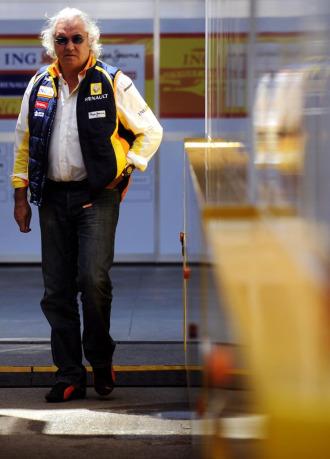 El jefe de Renault, Flavio Briatore.