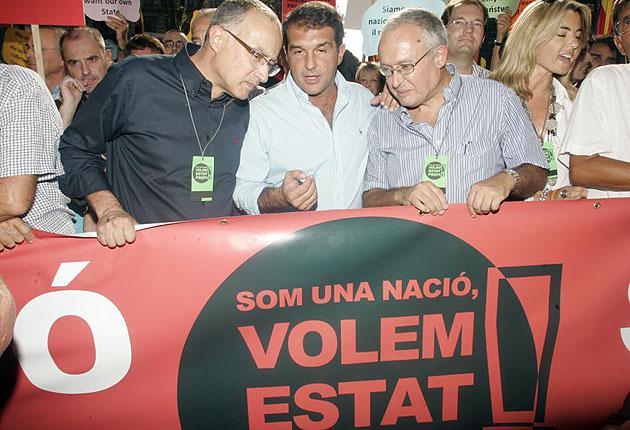 """El lema de la manifestación era """"Somos una nación, queremos un estado propio"""""""