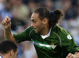 Sergio García, en un partido ante el Hércules.