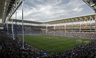 El estadio de Cornellá-El Prat, el día de la inauguración ante el Liverpool.