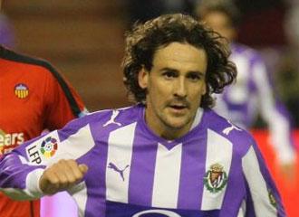 García Calvo, en un partido con el Valladolid en diciembre de 2008.
