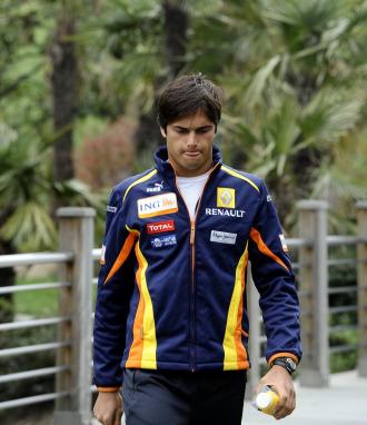 El ex piloto de Renault Nelson Piquet Jr. en el GP de China