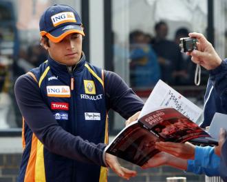 Piquet, cuando a�n era piloto de Renault.