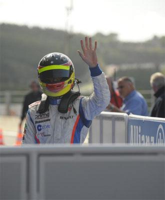 Rold�n Rodr�guez, tras una carrera.