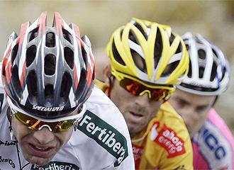 Valverde, en una etapa de la Vuelta.