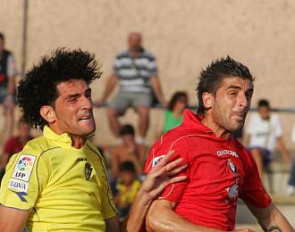 Portillo durante un partido con Osasuna
