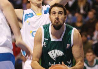 Germ�n Gabriel, en un partido con el Unicaja.