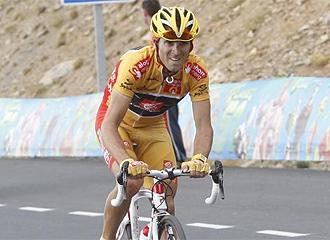 Alejandro Valverde, en la Vuelta.