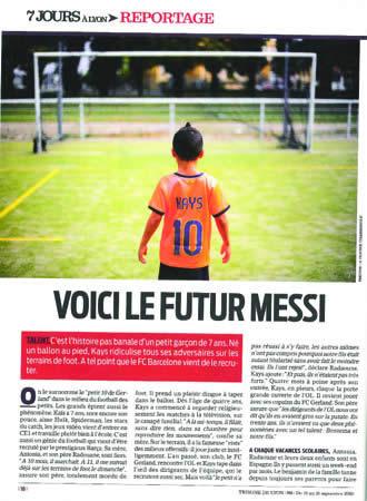 La página de la 'Tribune de Lyon' sobre Kays