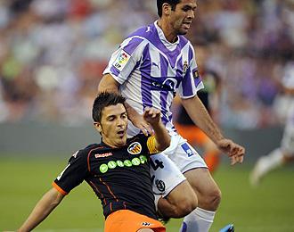 César Arzo durante el partido ante el Valencia