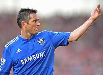 Frank Lampard, durante un partido con el Chelsea