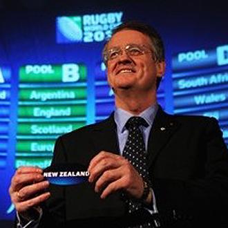 Bernard Lapasset, presidente de la International Rugby Board, el d�a que sali� elegida Nueva Zelanda como pa�s organizador del Mundial de 2011