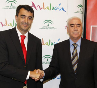 Javier Guilén junto a Luciano Alonso.