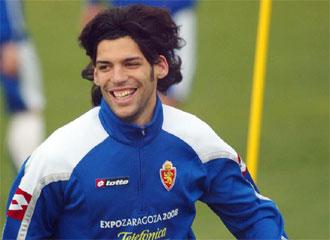 Lafita sonriente en su primera etapa como jugador del Real Zaragoza