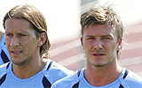 Míchel Salgado y David Beckham