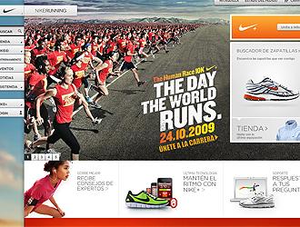 Web de la Nike Running