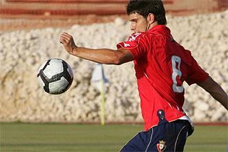Rúper, en un partido de pretemporada de Osasuna.