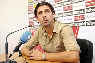Julien Escudé, durante la rueda de prensa.