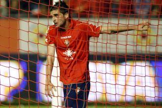 Javier Portillo, durante un partido de Osasuna.
