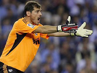Iker Casillas durante el partido en Z�rich