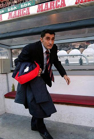 Ernesto Valverde volverá a San Mamés para ocupar el banquillo visitante, en esta ocasión al frente del Espanyol
