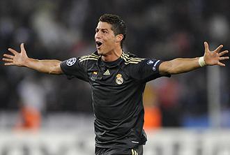 Cristiano Ronaldo celebrando uno de sus dos goles