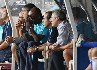 Mu�iz, durante el partido