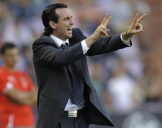 Emery durante un partido con el Valencia
