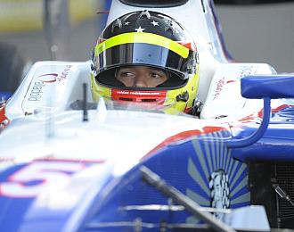 Rold�n durante un Gran Premio