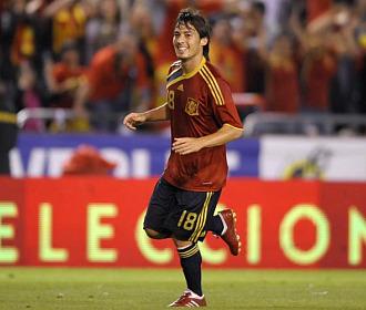 Silva durante un partido con la selección