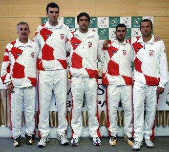El equipo de Croacia que se midió a la República Checa en Porec.