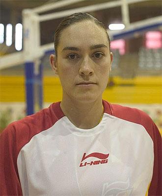 Marta Zurro en una concentraci�n con la selecci�n espa�ola.