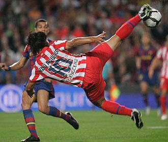 Agüero en el Camp Nou