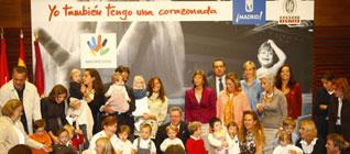 Gallardón junto a niños de la Fundación Síndrome de Down
