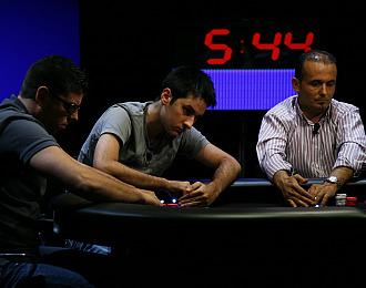 Los jugadores durante la semifinal