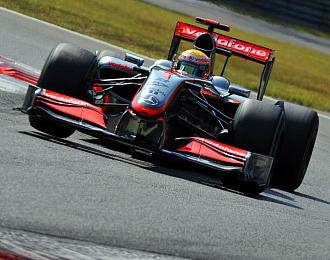 Hamilton durante el último Gran Premio de Italia