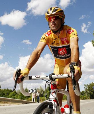 Valverde, durante la �ltima etapa de la Vuelta.