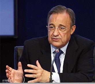 Florentino Pérez, durante la pasada Asamblea del club