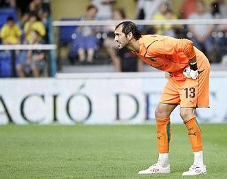 Diego López, durante un partido