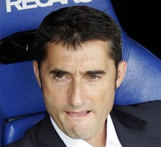 Ernesto Valverde, en el banquillo de El Madrigal