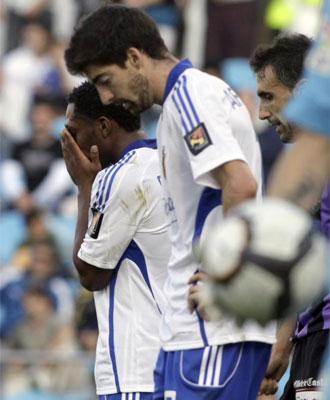 Arizmendi dolido tras la derrota ante el Valladolid.