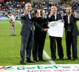 El Getafe también apoya a Madrid 2016
